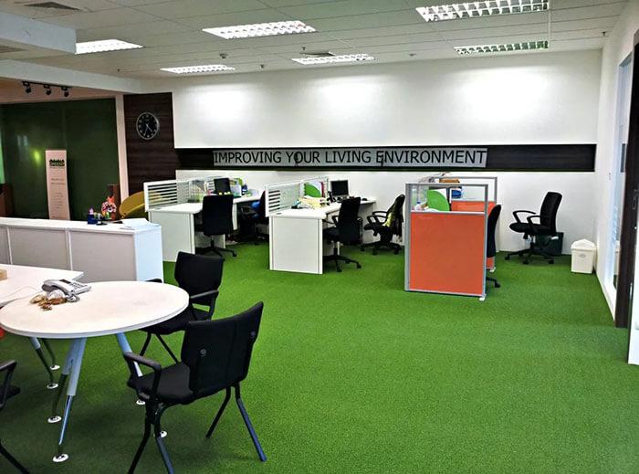 چمن مصنوعی برای محیط کار